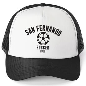 Soccer Trucker Hat - Team Name With Curved Text