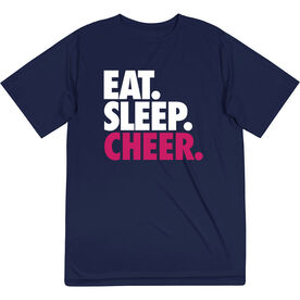 Cheerleading Short Sleeve Performance Tee - Eat. Sleep. Cheer.