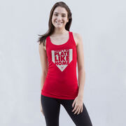 Softball Women's Athletic Tank Top - There's No Plate Like Home
