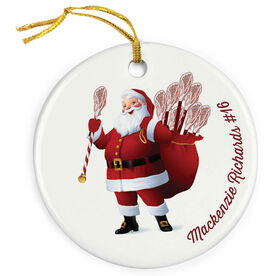 Lacrosse Porcelain Ornament Saint Nick