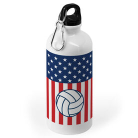 Volleyball 20 oz. Stainless Steel Water Bottle - USA Stars and Stripes