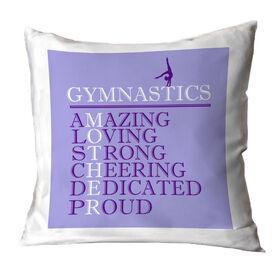 Gymnastics Throw Pillow - Mother Words (Girl Gymnast)