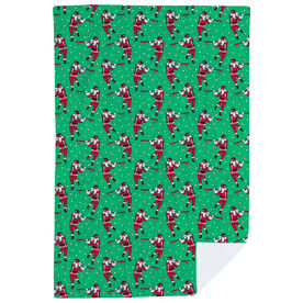 Guys Lacrosse Premium Blanket - Santa Laxer Pattern