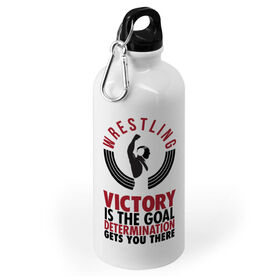 Wrestling 20 oz. Stainless Steel Water Bottle - Victory Is The Goal