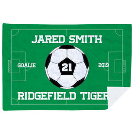 Soccer Premium Blanket - Personalized Soccer Team