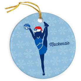 Cheer Porcelain Ornament Personalized Foot Grab Cheer Girl