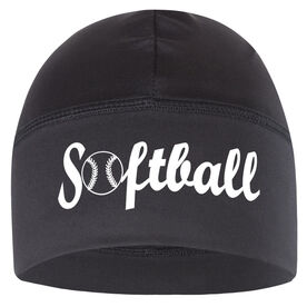 Beanie Performance Hat - Softball with Ball (White Lettering)