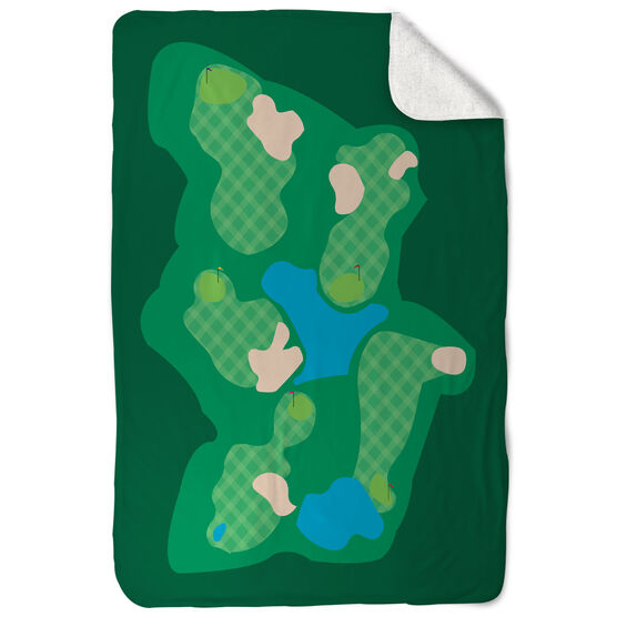 Golf Sherpa Fleece Blanket - The Course