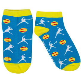 Softball Ankle Socks - Softball Player Girls