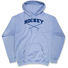 Hockey Hooded Sweatshirt - Hockey Crossed Sticks Logo