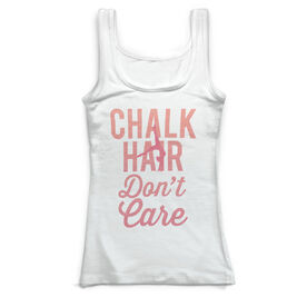 Gymnastics Vintage Fitted Tank Top - Chalk Hair Don't Care