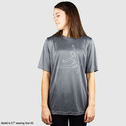 Gymnastics Short Sleeve Performance Tee - Gymnast Sketch