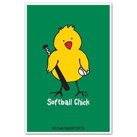 Softball Chick Decal