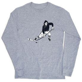 Hockey T-Shirt Long Sleeve - Rip It Reaper