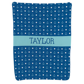 Personalized Baby Blanket - Anchors