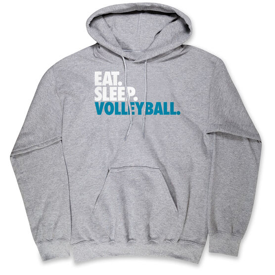 Volleyball Hooded Sweatshirt - Eat. Sleep. Volleyball.