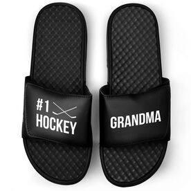 Hockey Black Slide Sandals - #1 Hockey Grandma