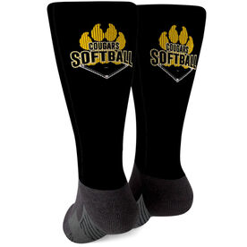 Softball Printed Mid-Calf Socks - Your Logo