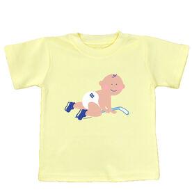 Baby T-Shirt Hockey Baby Crawling