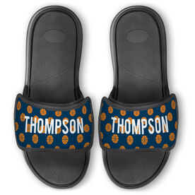 Basketball Repwell® Slide Sandals - Personalized Basketball Pattern