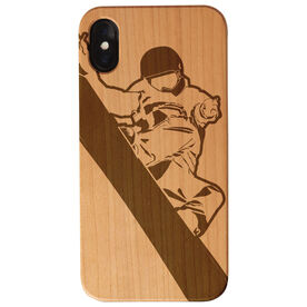 Snowboarding Engraved Wood IPhone® Case - Snowboarder