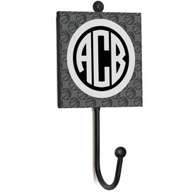 Basketball Medal Hook - Monogram with Basketball Pattern