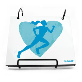 BibFOLIO® Race Bib Album - Watercolor Heart Girl