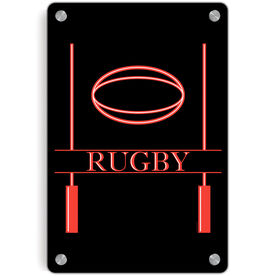 Rugby Metal Wall Art Panel - Crest