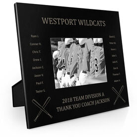 Baseball Engraved Picture Frame - Team Name With Roster