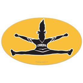 Cheer Oval Car Magnet Toe Touch