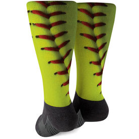 Softball Printed Mid-Calf Socks - Photo Stitches