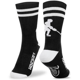 Hockey Woven Mid Calf Socks - Player (Black/White)