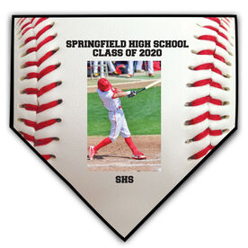 Baseball Home Plate Plaque - Vertical Photo