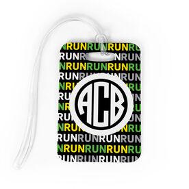 Running Bag/Luggage Tag - Personalized Running Pattern Monogram