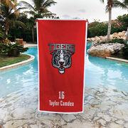 Cheerleading Premium Beach Towel - Custom Team Logo