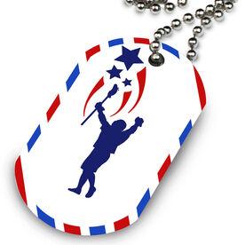 Lacrosse Printed Dog Tag Necklace Lacrosse Spirit