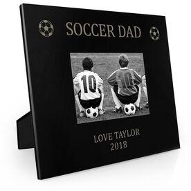 Soccer Engraved Picture Frame - Soccer Dad