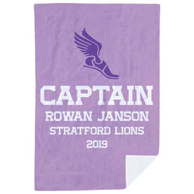 Track & Field Premium Blanket - Personalized Captain