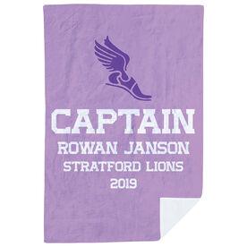 Track & Field Premium Blanket - Personalized Captain