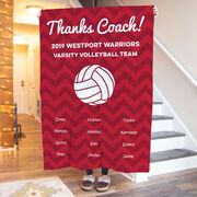 Volleyball Premium Blanket - Personalized Thanks Coach Chevron