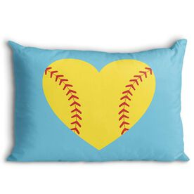 Softball Pillowcase - Heart