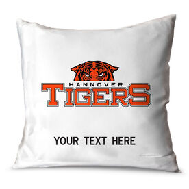 Baseball Throw Pillow Custom Logo With Team Name