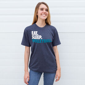Volleyball T-Shirt Short Sleeve Eat. Sleep. Volleyball.