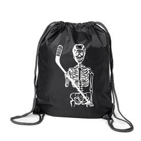 Hockey Sport Pack Cinch Sack - Skeleton (White)