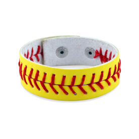 Authentic Softball Leather Bracelet