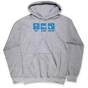 Soccer Hooded Sweatshirt - Eat Sleep Soccer