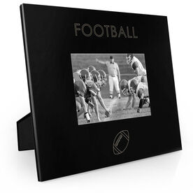 Football Engraved Picture Frame - Simple Football