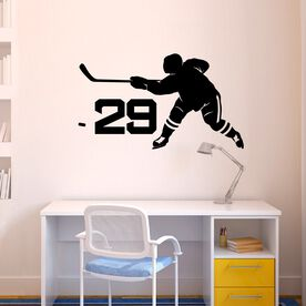 Personalized Hockey Slap Shot Removable ChalkTalkGraphix Wall Decal