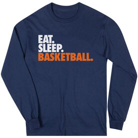 Basketball T-Shirt Long Sleeve Eat. Sleep. Basketball.