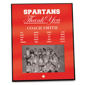 Volleyball Photo Frame Thank You Coach Roster